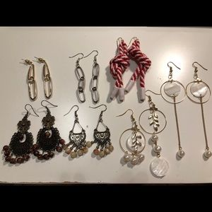 Jewelry - Lots of 7 statement earrings drop pearl link